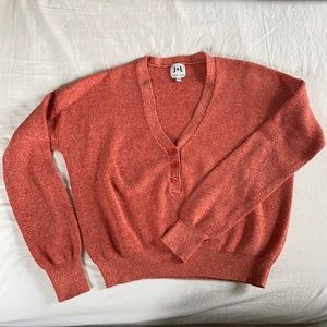 J&L Red Cropped Sweater